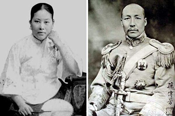 施剑翘(左)为父报仇后,获国民政府特赦。右为军阀孙传芳。(公有领域)