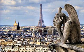 巴黎聖母院人氣最高的「怪物界沉思者」——「思提志」(Stryge)。(JeniFoto/shutterstock)