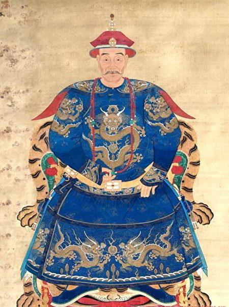 吳周開國皇帝吳三桂畫像。(公有領域)