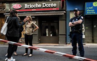 5月24日,里昂市中心維克多-雨果步行街(rue Victor-Hugo)上的一家麵包店門前,一個裝有螺絲、螺母、螺栓等爆炸物的包裹被引爆,造成13人受輕傷。圖為爆炸地點。(JEFF PACHOUD / AFP)
