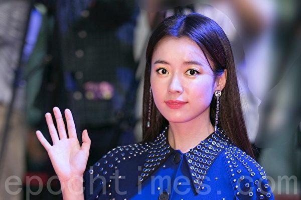 韓國人氣女星韓孝周出席韓國電影《人狼》首映會資料照。(全景林/大紀元)
