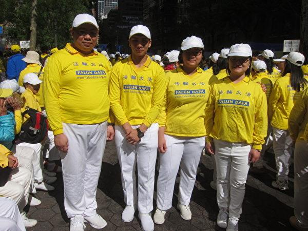 紐約法輪功法會 台灣學員有感大法美好