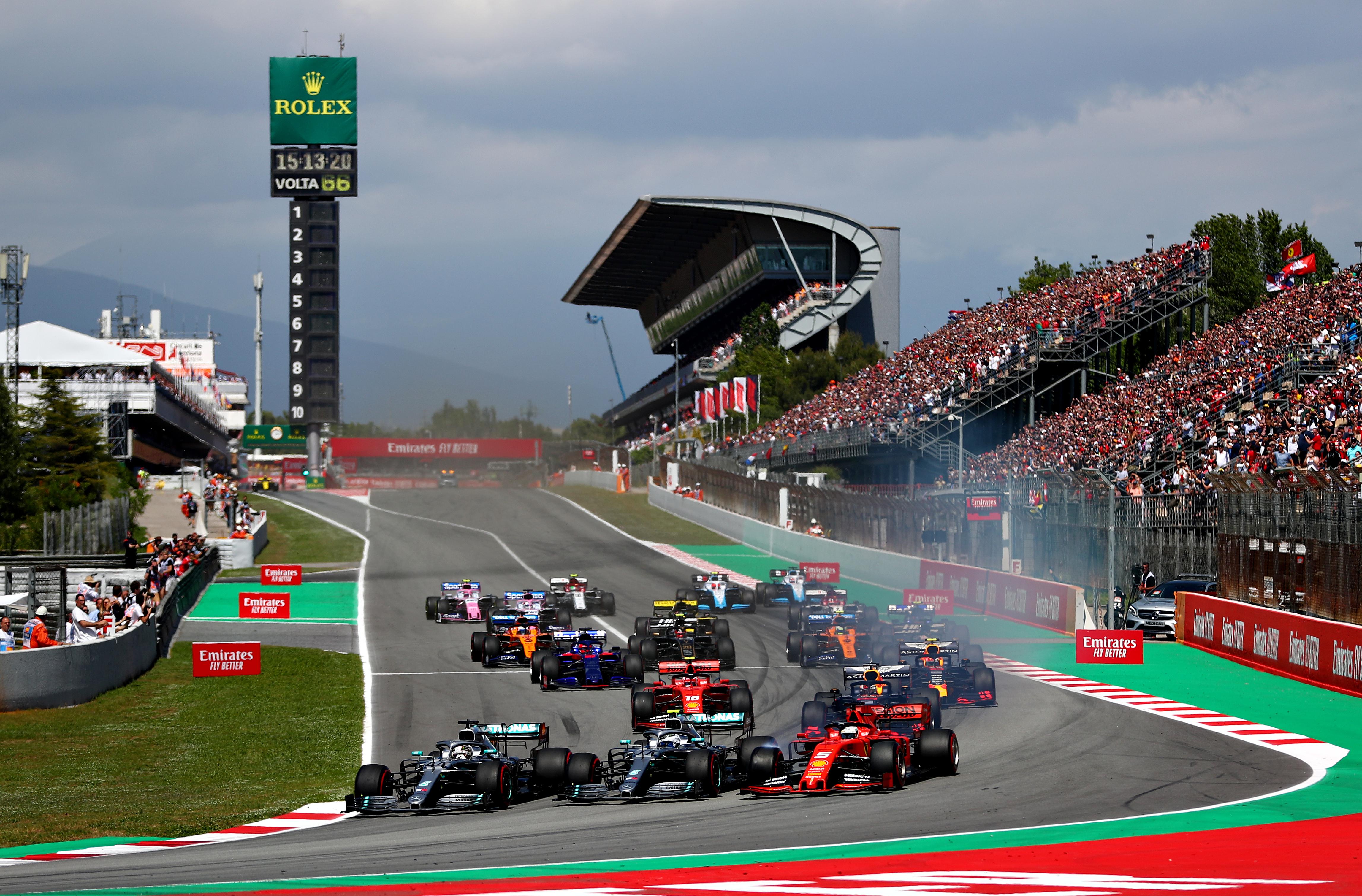 F1西班牙站:梅赛德斯连续五次包揽冠亚军