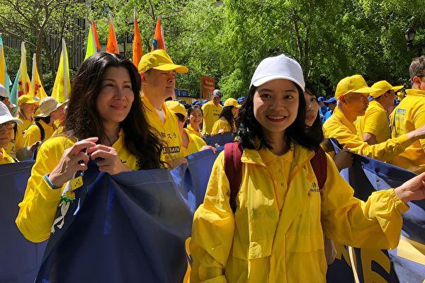 留英碩士生10歲修煉 紐約遊行感慨萬千
