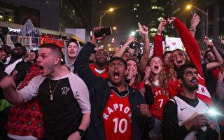 猛龍隊打入NBA總決賽 大批粉絲湧入多倫多
