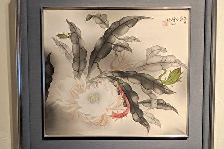 """画家郭雪湖作品""""月下美人""""。"""