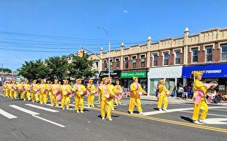 全美最大阵亡将士日游行 民众喜爱腰鼓队表演