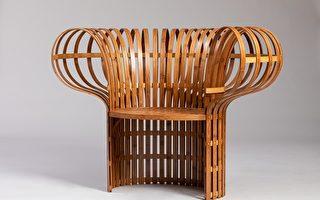 「巴黎精緻工藝博覽會」上將展出的台灣「新層次II」品牌的竹椅 (Jin Kuramoto & Jian-Cheng Lin) 。(文化部駐法國台灣文化中心提供)