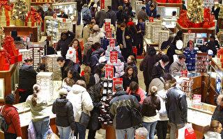 美國世界大型企業聯合會週二表示,美國5月份消費者信心指數大幅上升。圖為聖誕打折季期間的百貨公司。(Stephen Chernin/Getty Images)