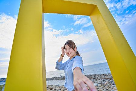 「經典黃框」框住新竹漁港美景