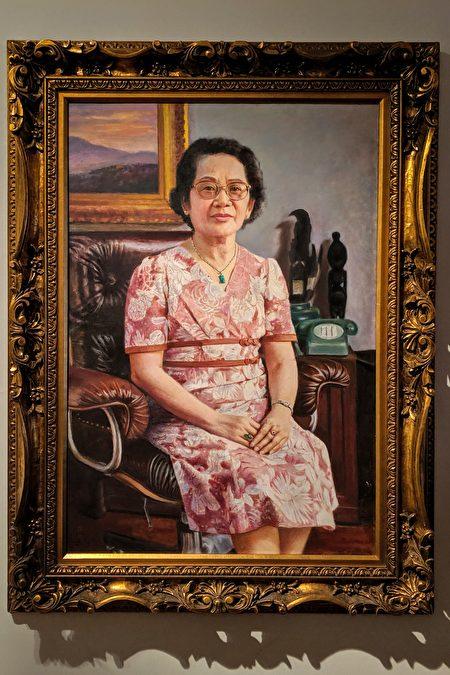 """画家李梅树作品""""许夫人像""""。"""