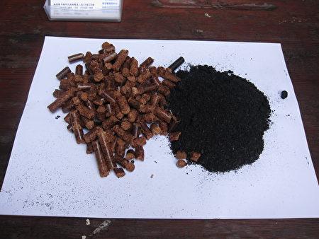 生質顆粒與生物炭。