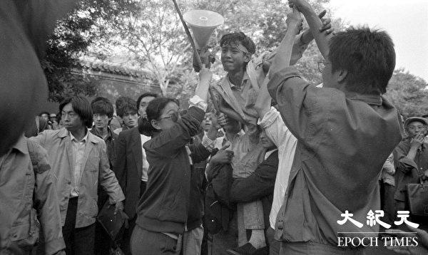 1989年学运期间的绝食学生。(Jian Liu提供)
