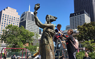 舊金山清洗民主女神像 拉開紀念六四30周年序幕