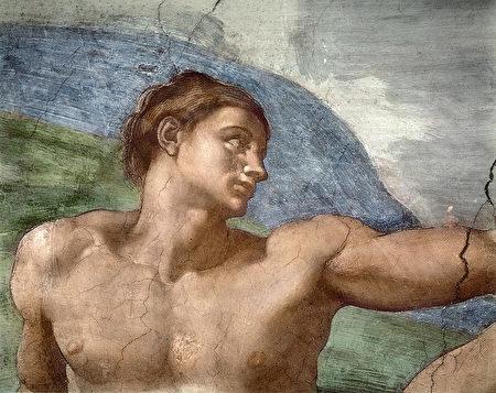 米開朗琪羅《創造亞當》(The Creation of Adam)局部。(公有領域)
