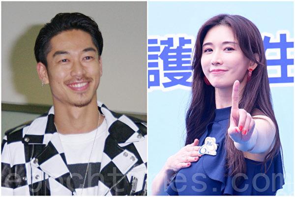 日本團體EXILE放浪兄弟成員AKIRA(左)與林志玲(右)結婚。(黃宗茂/大紀元製圖)
