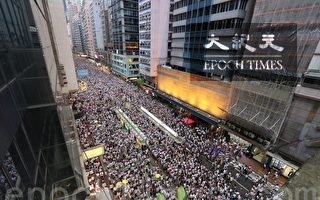 组图5:俯瞰香港反送中游行 规模空前
