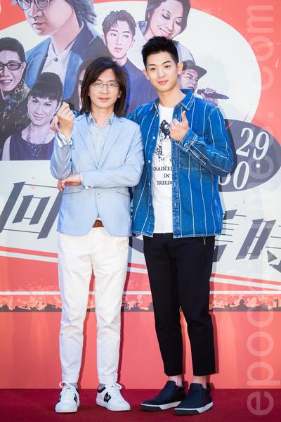 歌手林隆璇(左)、兒子林亭翰(右)