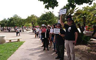 """圣地亚哥声援香港反送中:""""你们不孤单"""""""