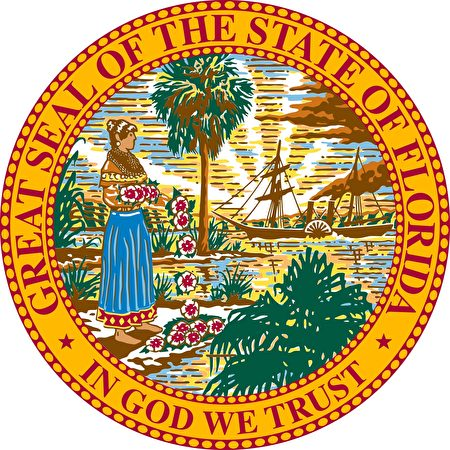 佛羅里達州州徽。(公有領域)