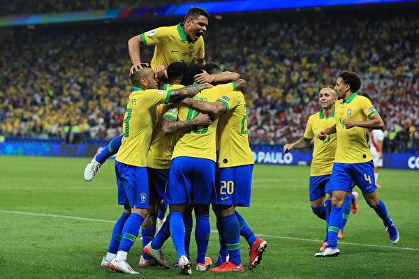美洲盃:巴西大勝秘魯晉級