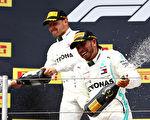 F1法國站:梅賽德斯車隊第六次包攬冠亞軍