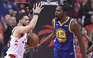 NBA总决赛第5场 猛龙主场1分之差不敌勇士