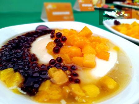 粉圆豆花中加入酸甜芒果是什么滋味。