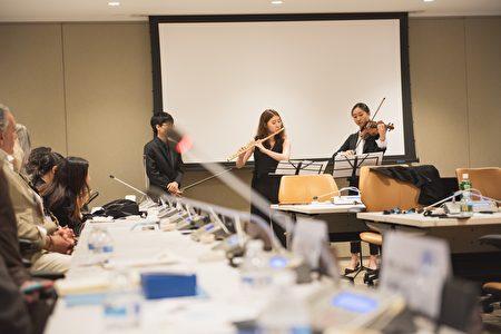 「新約克人的音樂」帶領三位頂尖音樂學院的新生代音樂家,在聯合國會議上演出。