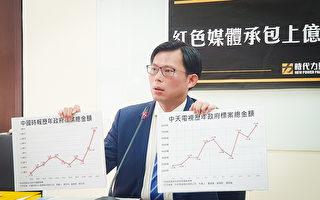 旺中频拿台政府标案 立委:税金给了红媒