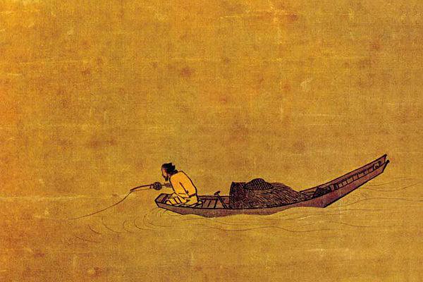 图为宋马远的《寒江独钓图》(局部)。(公有领域)