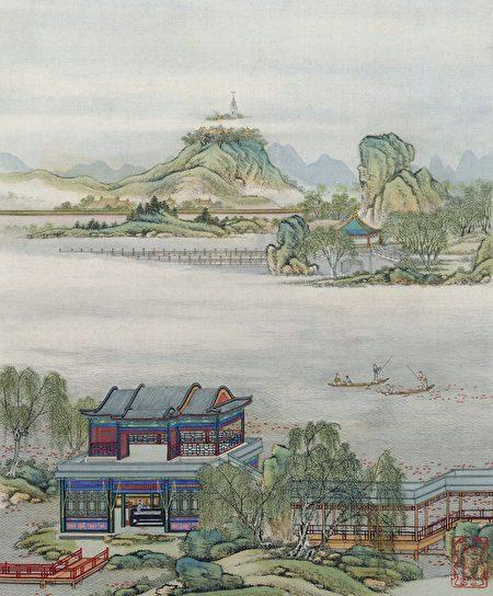 示意图:清 陈玫《山水楼阁图册》。(公有领域)