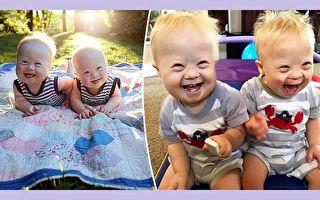 因為純真的笑容而深得網友喜愛的美國唐氏兒雙胞胎米羅和查里(Milo and Charlie McConnel),是爸媽眼中的寶貝,他們對倆兄弟的未來充滿信心。(Charlie and Milo: Fearfully and Wonderfully Made/大紀元合成)