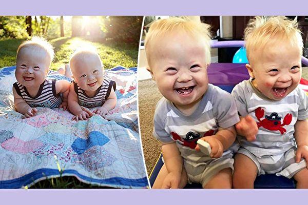 因为纯真的笑容而深得网友喜爱的美国唐氏儿双胞胎米洛和查理(Milo and Charlie McConnel),是爸妈眼中的宝贝,他们对俩兄弟的未来充满信心。(Charlie and Milo: Fearfully and Wonderfully Made/大纪元合成)