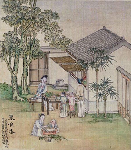 清代畫家徐揚《端陽故事圖冊》。(公有領域)