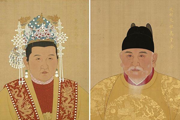 大明孝慈高皇后馬氏畫像,台北故宮博物院藏。(公有領域)