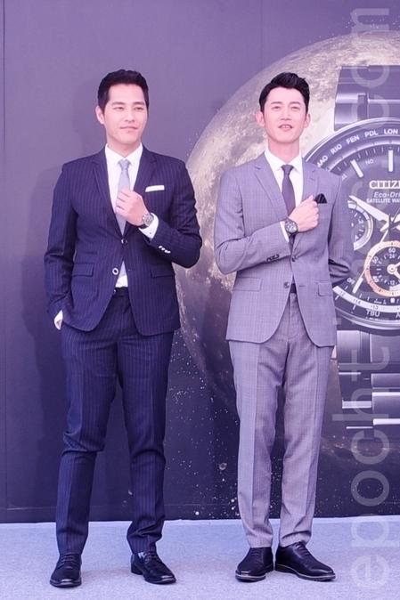 藍正龍(左)、吳慷仁(右)出席CITIZEN 快閃店