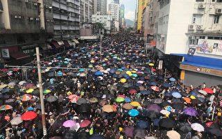 組圖2:元朗7.27反黑大遊行 人潮擠滿街道