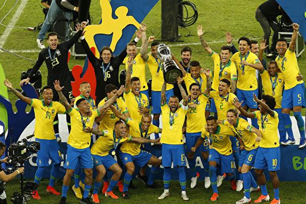 东道主巴西击败秘鲁 12年后再夺美洲杯冠军