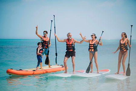 体验丰富的水上、浮潜活动。