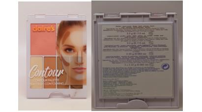 被验出石绵成分的化妆品。(FDA提供)