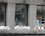 新奥尔良部分建筑已经用沙袋预防周末的风暴可能带来的洪灾。