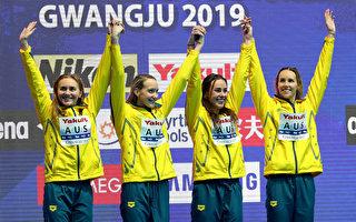 創新紀錄 世泳賽澳洲女子4×200米奪冠