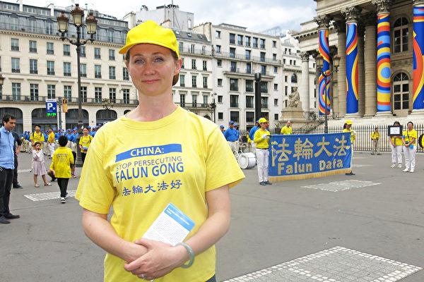 法国西人学员Hélène Tong。(关宇宁/大纪元)