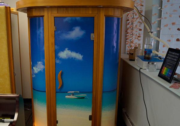 图:盐天堂的盐疗室,为纯天然、非药物治疗法。(盐天堂提供)