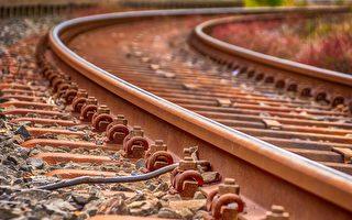 火車剛開了約200公里,狗狗用爪子撓開車廂門跑掉了。鐵軌示意圖。(公有領域)