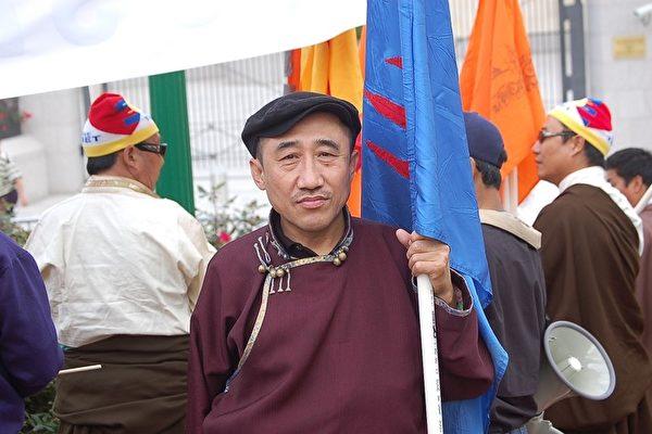 旅德內蒙古人民黨主席席海明先生。(大紀元)