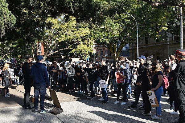 布里斯本香港留学生游行反暴力 声援反送中