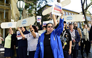 新州逾2萬醫護人員罷工