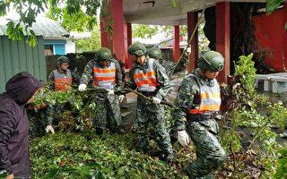 白鹿侵襲 台東地區指揮部協助復原